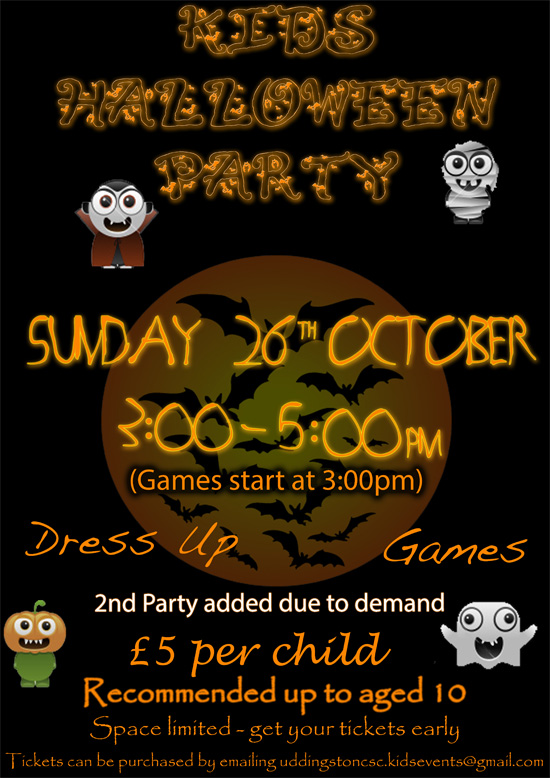 Kids Under 10s Halloween Party - Sunday 26th Oct - 3 to 5pm