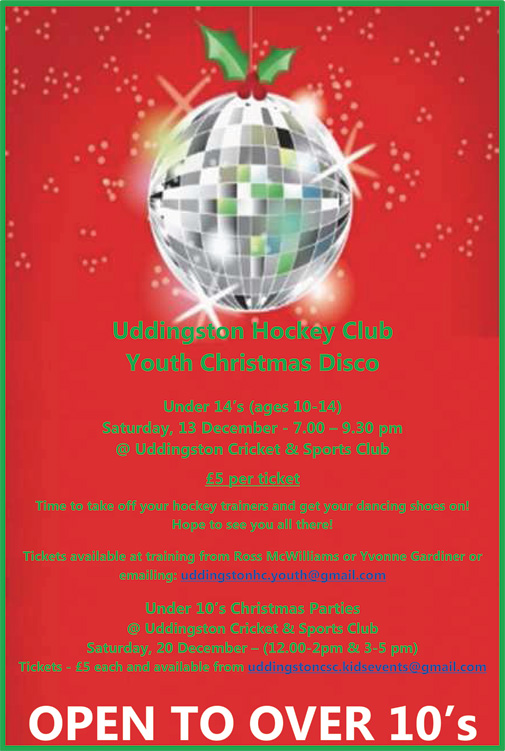 Over 10's UHC Youth Christmas Disco (Age 10 - 14)