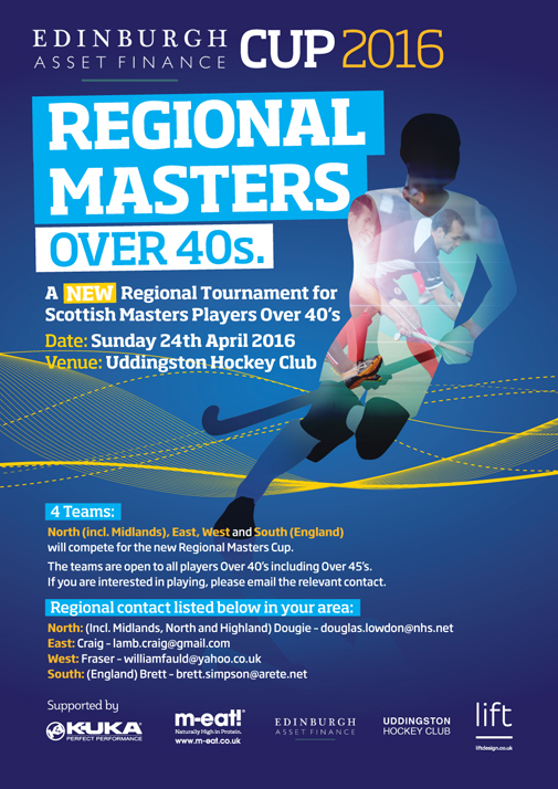 Regional Masters Over 40s at Uddingston this Sunday