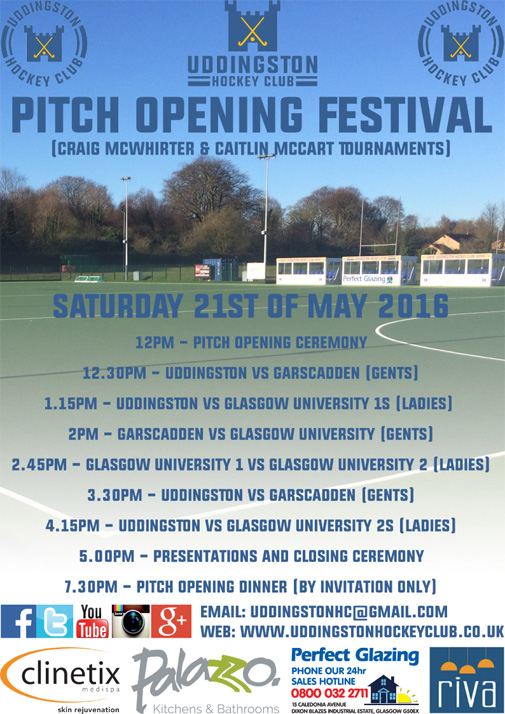 Hockey Pitch Opening Confirmed - Saturday 21st & Sunday 22nd May