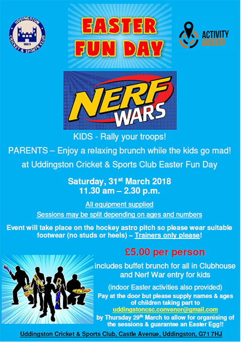 Book now for NERF Wars!!!